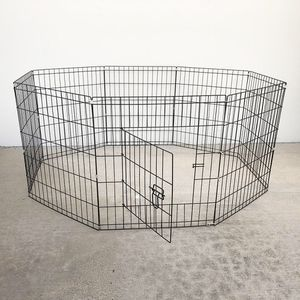 """New $30 Foldable 24"""" Tall x 24"""" Wide x 8-Panel Pet Playpen Dog Crate Metal Fence Exercise Cage for Sale in La Mirada, CA"""