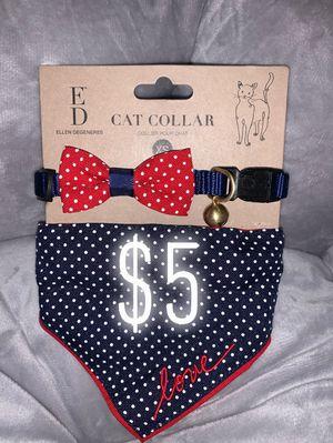 Dog collar bandana and bow set for Sale in Santa Ana, CA