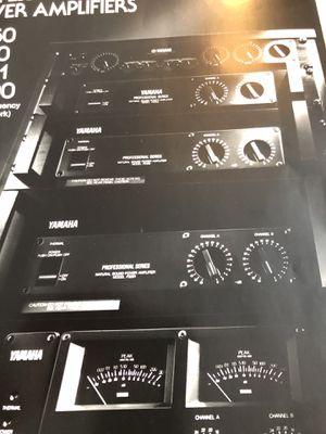 Yamaha amplifier brochure for Sale in Snohomish, WA