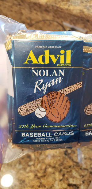 Rare **85** Unopened Packs of 1991 Advil Nolan Ryan Baseball Cards for Sale in Lathrop, CA
