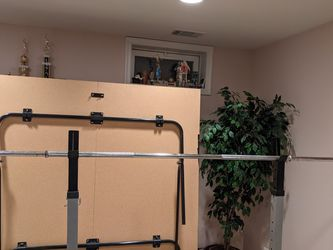 Rack And Barbell With Plates for Sale in Centreville,  VA