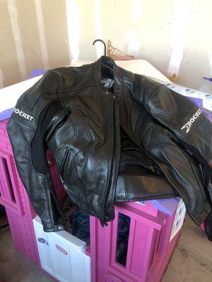 Joe rocket leather motorcycle jacket for Sale in Salt Lake City, UT