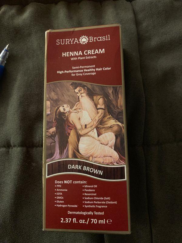 Unopened box of Surya Henna cream dark brown $7