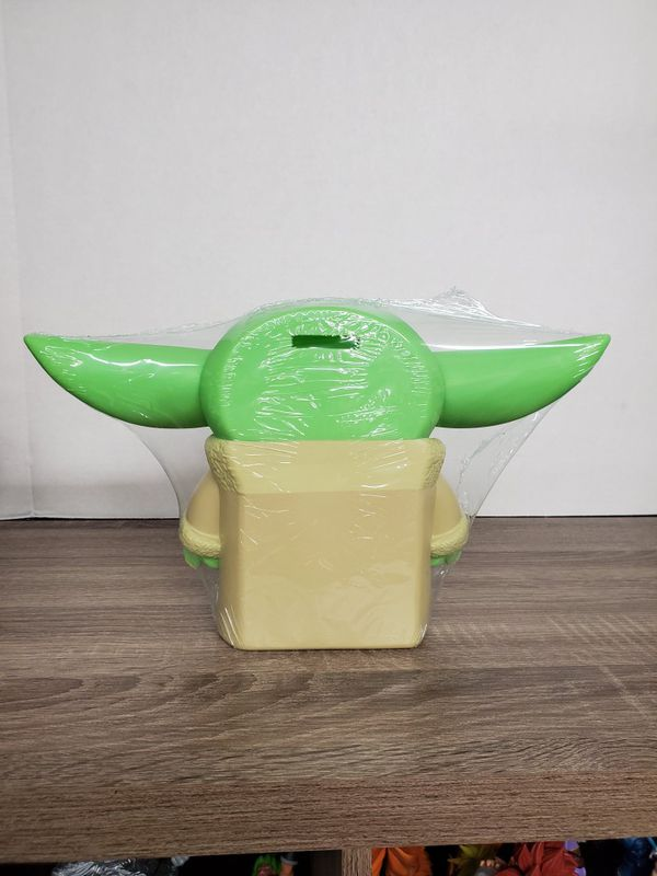 Star wars the child baby yoda pvc figural figure coin bank 7.75 inches