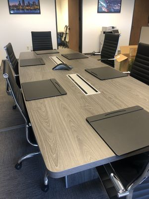 Confrence table, office desks and cubicles entire office for sale for Sale in Miami, FL