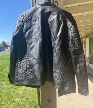 Faux leather motorcycle jacket ladies 1x for Sale in Denver, CO
