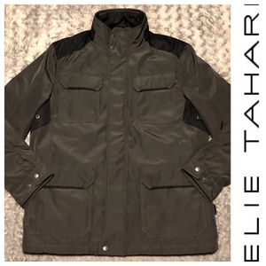 Mens Tahari parka jacket paid $350 size L Like New! No rips, stains or issues amazing like new condition. Olive green, zipper front 2 zippers in back for Sale in Washington, DC