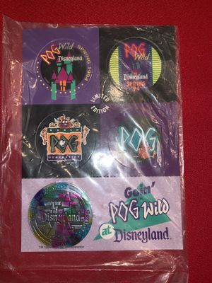 """Spring 1994 """"Goin' Pog Wild"""" Disney slammer and milk caps unpunched and in original packaging. for Sale in Chandler, AZ"""