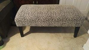 Golden chair Inc. Leopard print ottoman for Sale in Sebring, FL