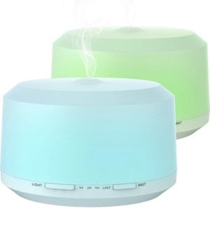NEW* 2 PACK, 450ml EACH Essential Oil Diffuser, Aromatherapy Diffusers for Essential Oils Ultrasonic Humidifier with 4 Timer Settings Mist, 8 LED Col for Sale in San Dimas, CA