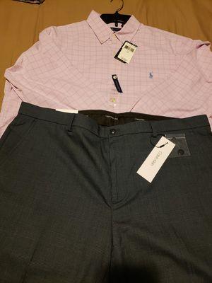 New Ralph Lauren Polo Dress shirt. Calvin Klein slacks. for Sale in Cleveland, OH