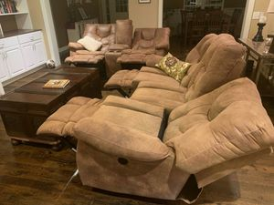 Ashley power reclining couch, loveseat, and reclining chair for Sale in Fairview, TN