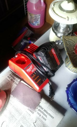 M12-M18 Charger and M18v Red lithium xc 5.0 Battery for Sale in Hermon, ME