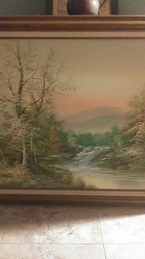 Vtg oil painting scenic by Hamrey? for Sale in Glastonbury, CT