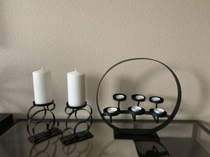 Three metal candle holders !!! for Sale in Vancouver, WA