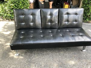 Leather futon with speakers for Sale in Stockton, CA