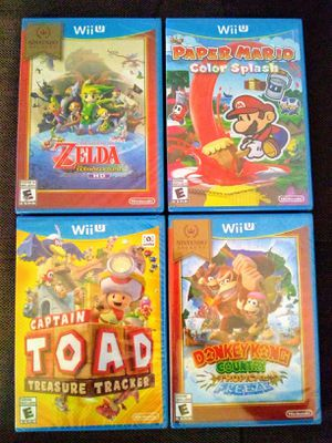Nintendo Wii U Games Mario Zelda Donkey Kong Toad for Sale in Los Angeles, CA