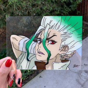 SENKU Dr. Stone Glass Painting for Sale in Long Beach, CA