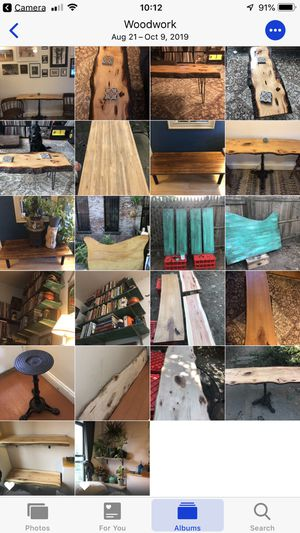 Live edge & reclaimed wood coffee tables, kitchen tables, end tables, plant stands, shelves... for Sale in Brooklyn, NY