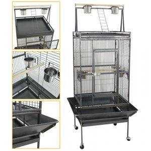 68 Inch Bird Parrot Chinchillas Ferret Cage Cockatiel House w/Stand Metal Wheel for Sale in Wildomar, CA