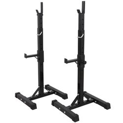 ZENY Pair of Adjustable Barbell Rack Stand Squat Bench Press Home GYM Weight Liftting Fitness Exercise for Sale in Snohomish,  WA