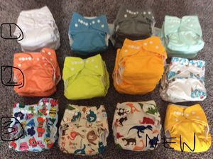 LOT - Baby infant newborn - cloth diapers, receiving blankets, diaper liners, twin z nursing pillow, burp cloths, boppy for Sale in Oldsmar, FL