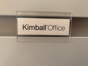Kimball office. File cabinet 5 drawers never used missing luck All drawers work original price 2.500$ for Sale in Las Vegas, NV