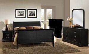 Full /queen bedroom set 4 pcs $499 for Sale in Victorville, CA