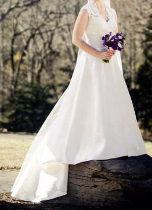 Ivory Wedding Dress – Size 10 for Sale in Fairfax, VA