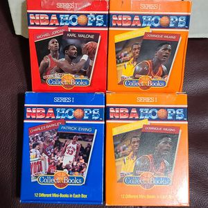 NBA Hoops Series 1, 2 And 3 Collect A Books 1990 Included Michael Jordan for Sale in San Antonio, TX