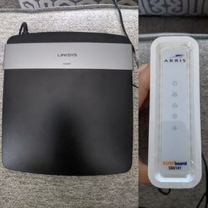 Linksys router and Arris modem for Sale in Alafaya, FL