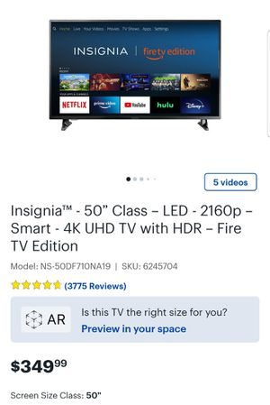 INSIGNIA fire 50 LED TV 4K Ultra HD for Sale in Houston, TX