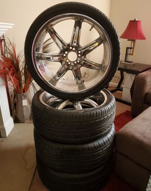 Set of 20 in rims and low profile tires for Sale in Decatur, GA