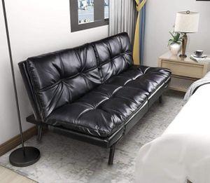 Brand new futon sofa memory foam black for Sale in Gig Harbor, WA