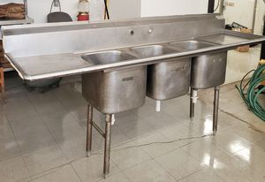 Commercial 3 compartment sink for Sale in Greenville, SC
