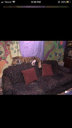 Free pull out queen size bed couch you will need a queen size mattress only for Sale in GA,  US