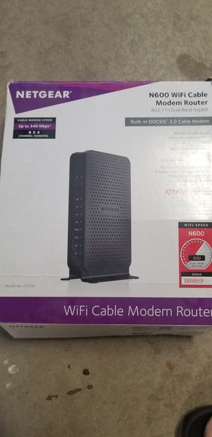 Netgear N600 Wifi cable modem Router for Sale in San Diego, CA