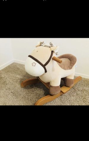 Baby Rocking Horse Plush, Kid Ride on Toys for 1-3 years old, ( OBO) for Sale in San Jacinto, CA
