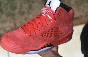 Jordan 5 red suede for Sale in Detroit, MI