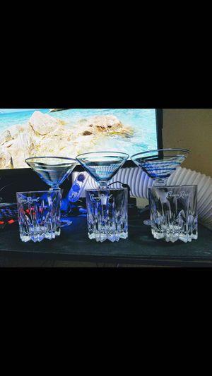 3 copas para margarita y 3 vasos Croun Royal for Sale in Los Angeles, CA