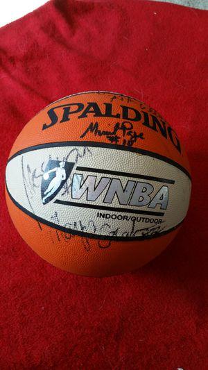 1998 Signed Washington Mystics Basketball for Sale in Manassas, VA
