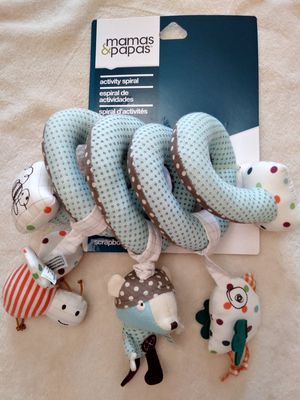 Mamas and Papas Activity Spiral for Baby. Rattle Baby. Soft Baby Toy. Car Seat Toy. Stroller Toy. for Sale in Riverside, CA