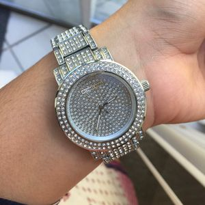 Mk Michael kors crystal watch unisex silver tone for Sale in Silver Spring, MD