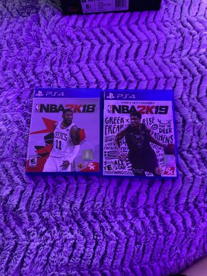 NBA 2K18 and NBA 2K19 for PlayStation 4 for Sale in Vancouver, WA
