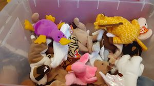Huge bin of original beanie babies for Sale in Chicago, IL