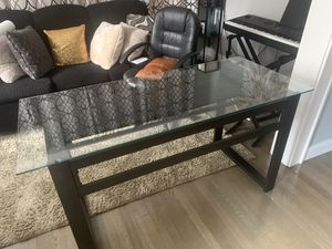 Computer Desk with glass top for Sale in Village of Pelham, NY