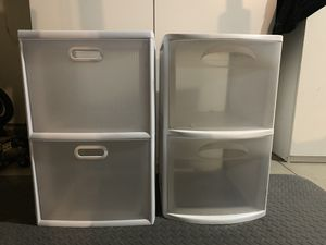 2 Plastic drawer storage for Sale in Corona, CA