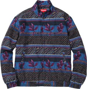SUPREME Supreme 15 AW Silk Bomber floral Zip Jacket Blue Size small for Sale in Cornelius, NC