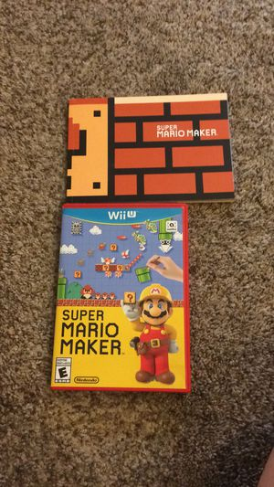Super Mario Maker for Nintendo WiiU, Wii U with idea book for Sale in Green Bay, WI
