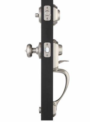 Kwikset Montara Satin Nickel Single Cylinder Door Handleset with Juno Entry Door Knob Featuring SmartKey Security for Sale in Redlands, CA